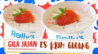 Mau kencan dengan kekasih di hari Valentine? Jangan lupa untuk mampir mencicipi es krim gulung khas Thailand yang satu ini. (Foto: Kokiku Tv)