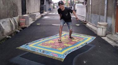 Kampung di Depok Viral, Gambar 3D di Jalanan Jadi Objek Wisata