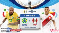 Live streaming Brasil vs Peru di semifinal Copa America 2021 dapat disaksikan melalui platform Vidio. (Dok. Vidio)