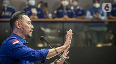 FOTO: AHY Berikan Tanggapan Terkait KLB Demokrat