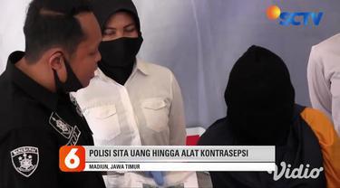 ISM, warga asal Jakarta digelandang ke Kantor Polisi Resor Madiun. Janda dua anak ini ditangkap, karena terbukti menjual dua gadis berusia 20 dan 15 tahun, ke pria hidung belang melalui aplikasi percakapan.