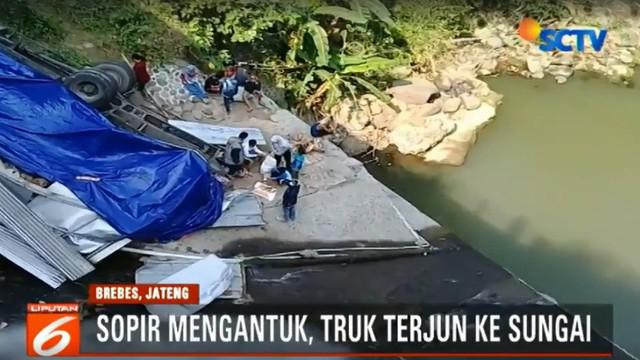 Sejumlah saksi menuturkan kejadian berawal ketika truk dari arah Tegal menuju Yogyakarta melaju dengan kecepatan tinggi.