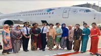Penerbangan khusus PT Garuda Indonesia Tbk saat Hari Kartini pada Sabtu 21 April 2018 (Foto: Dok PT Garuda Indonesia Tbk)