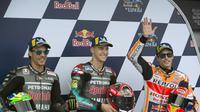 Marc Marquez tidak menyangka harus memulai balapan di belakang Fabio Quartararo dan Franco Morbidelli pada MotoGP Jerez. (AFP/Jorge Guerrero)