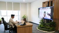 """Ketua Dewan Komisioner Otoritas Jasa Keuangan (OJK), Wimboh Santoso, dalam acara Peringatan HUT Ke-76 Kemerdekaan RI dan Satu Dasawarsa (10 tahun) OJK dengan tema """"Peneguhan Cinta Tanah Air dan Semangat Pengabdian OJK"""" secara virtual, Sabtu (28/8/2021). Acara diisi Ceramah Kebangsaan Dan Doa Untuk N"""