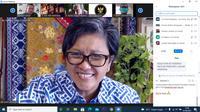 Wakil Ketua MPR RI Lestari Moerdijat saat membuka diskusi daring bertema Urgensi Amandemen UUD 1945 di Masa Pandemi yang digelar Forum Diskusi Denpasar 12, Rabu (1/9/2021).
