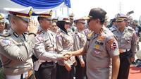 Kepala Korlantas Polri Irjen Pol Istiono meninjau kesiapan anggota di lapangan. (Ist)