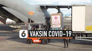 VIDEO: Vaksin Covid-19 Sumbangan China Tiba di Filipina