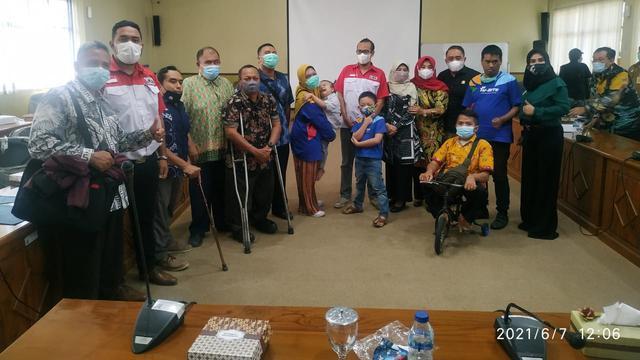 Koalisi disabilitas Sidoarjo melakukan audiensi dengan DPRD Sidoarjo.