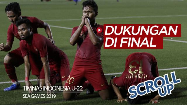 Berita video Scroll Up kali ini membahas perjuangan Timnas Indonesia U-22 yang akhirnya mencapai babak final sepak bola putra SEA Games 2019 yang mendapat dukungan dari para warganet.
