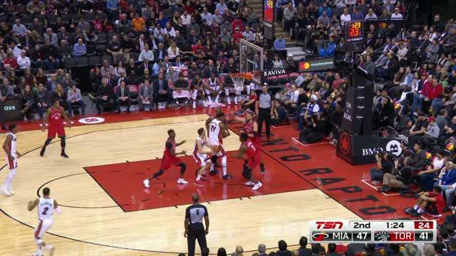 Berita video game recap NBA 2017-2018 antara Miami Heat melawan TorontoRaptors dengan skor 90-89.