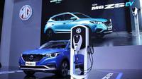 Mobil Listrik MG ZS EV Resmi Diperkenalkan di IIMS Hybrid 2021 (ist)