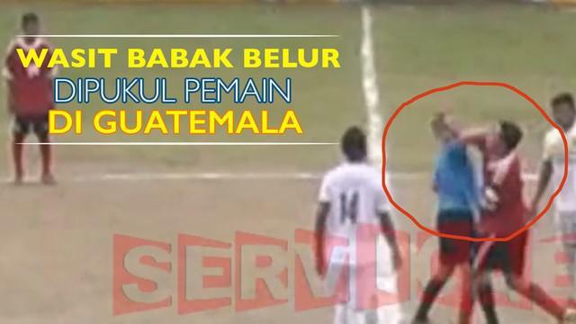 Sergio Castaneda wasit yang memimpin laga divisi tiga di Guatemala dipukul hingga babak belur oleh Daniel Pedrosa.