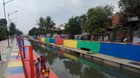 Normalisasi Sungai Sekanak Palembang yang menghabiskan dana hingga ratusan miliar  (Liputan6.com / Nefri Inge)