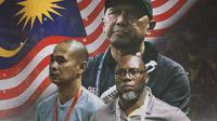 Ilustrasi - Rahmad Darmawan, Kurniawan Dwi Yulianto, Jacksen Tiago Nuansa Malaysia (Bola.com/Adreanus Titus)