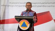 Juru Bicara Pemerintah untuk Penanganan Covid-19 Achmad Yurianto saat konferensi pers Corona di Graha BNPB, Jakarta, Selasa (31/3/2020). (Dok Badan Nasional Penanggulangan Bencana/BNPB)