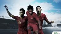 3 pemain kunci Timnas Indonesia U-22. (Bola.com/Dody Iryawan)