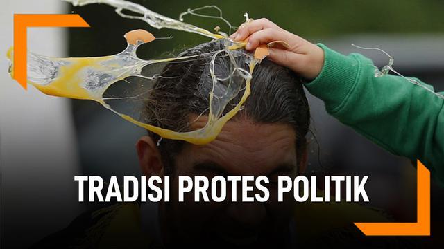 Lempar Telur di Australia, Tradisi Protes Politik Sejak Lama
