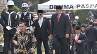 Menteri Agama Lukman Hakim Saifuddin menghadiri pemakaman almarhum Presiden ke-3 Republik Indonesia BJ Habibie di Taman Makam Pahlawan Nasional Utama (TMP) Kalibata, Jakarta, Kamis (12/9/2019). (merdeka.com/Iqbal Nugroho)