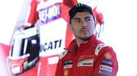 "Pebalap Ducati, Jorge Lorenzo, saat jumpa pers di Hotel Sheraton, Jakarta, Kamis 1/2/2018). Acara tersebut dalam rangka kampanye Shell Advance ""Libas Tantanganmu. (Bola.com/M Iqbal Ichsan)"