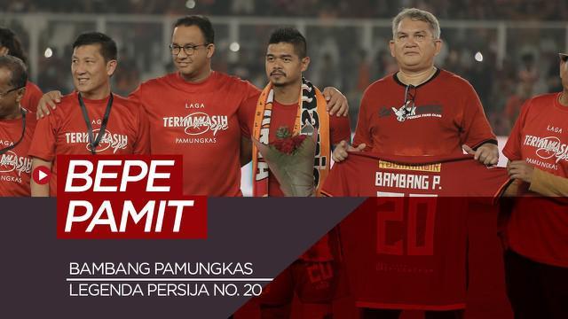 Berita video motion tentang striker Persija Jakarta yang memutuskan gantung sepatu, Bambang Pamungkas.