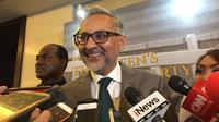 Duta Besar Inggris untuk RI Moazzam Malik mengatakan, Indonesia harus terus maju sehingga bisa jadi inspirasi dunia (Liputan6.com/Teddy Tri Setio Berty)
