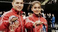 Atlet Indonesia menorehkan prestasi membanggakan pada Kejuaraan Dunia Karate Shitoryu Ke-8. Tim Merah Putih mendapatkan dua medali emas dan 4 perunggu pada ajang yang berlangsung di Meksiko, 17-23 Oktober 2016, tersebut. (Instagram)