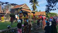 Bola Soba, rumah adat Kerajaan Bone dilalap si jago merah (Liputan6.com/Fauzan)