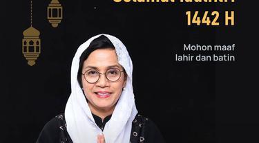 Ucapan Idul Fitri 1442 H Menteri Keuangan Sri Mulyani