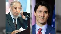 Mendiang Pemimpin Kuba Fidel Castro dan Perdana Menteri Kanada Justin Trudeau (AFP PHOTO, combined via Pixlr.com)