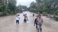 Banjir di Kabupaten Banggai pada Kamis, 18 Juli 2019 menelan satu korban jiwa. (Dok Badan Penanggulangan Bencana Daerah/BPBD Kabupaten Banggai)