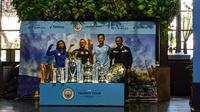 Manchester City Trophy Tour 2019 di Jakarta, Kamis (17/10/2019). (Bola.com/Muhammad Adiyaksa).