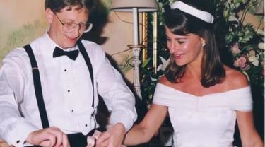 Pernikahan Melinda Gates dan Bill Gates. (Instagram/ melindafrenchgates)