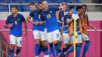 Timnas Brasil meraih kemenangan 3-1 atas Arab Saudi pada laga terakhir Grup D cabang olahraga sepak bola Olimpiade Tokyo 2020 di Saitama Stadium 2002, Rabu (28/7/2021) sore WIB. (AP Photo/Martin Mejia)