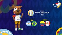 Banner Final Copa America 2021 dan Juara 3 (Liputan6.com/Abdillah)