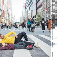 Raffi Ahmad dan Rafathar asyik tiduran di jalanan di Ginza, Tokyo, Jepang (Dok.Instagram/@raffinagita1717/https://www.instagram.com/p/B5mWkDGhfbj/Komarudin)