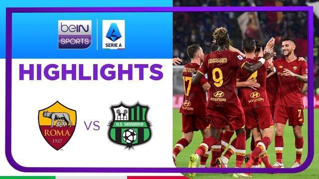 Berita video highlights kemenangan AS Roma 2-1 atas Sassuolo pada pekan ketiga Liga Italia (Serie A) 2021/2022, di mana terdapat momen Jose Mourinho melakukan selebrasi berlari, Senin (13/9/2021) dinihari WIB.