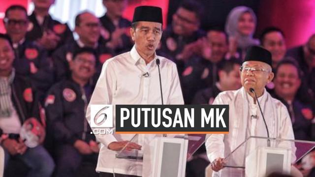 Jokowi-Ma'ruf menanggapi putusan Mahkamah Konstitusi yang menolak gugatan kubu Prabowo-Sandi. Ia meminta kepada rakyat Indonesia untuk bersatu setelah putusan MK.