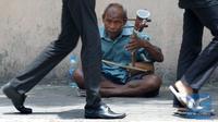 Thailand Larang Pengemis di Jalanan dan Pengamen Wajib Berizin. Pengemis di Bangkok (AFP)
