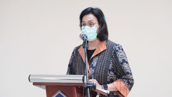 Penampakan Sri Mulyani Lantik Kepala BKF, Pakai Masker dan Jaga Jarak -  Bisnis Liputan6.com