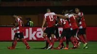 Madura United meraih kemenangan 3-1 atas Barito Putera dalam laga pekan pertama Liga 1, di Stadion Pamekasan, Senin (26/3/2018).