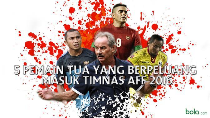5 Pemain Tua yang Berpeluang Masuk Timnas Piala AFF 2016  Indonesia Bola.com