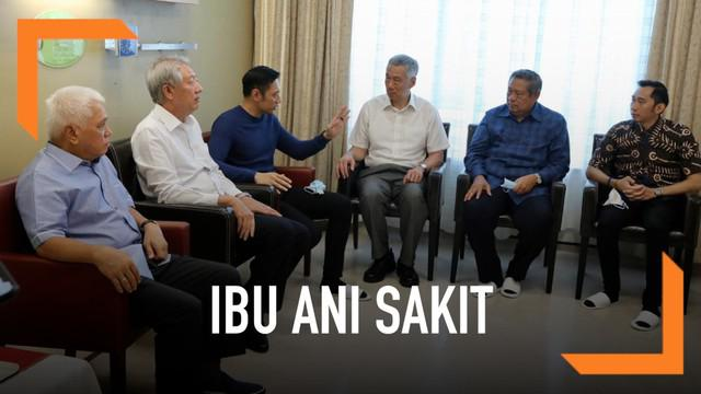 PM Singapura, Mr. Lee Hsien Loong dan Wakil PM Singapura, Mr. Teo Chee Hean menjenguk Ibu Ani Bambang Yudhoyono di National University Hospital, Singapura hari Jumat (15//2).