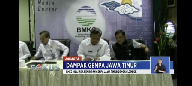 Bmkg Sebut Gempa Situbondo Mirip Dengan Di Lombok
