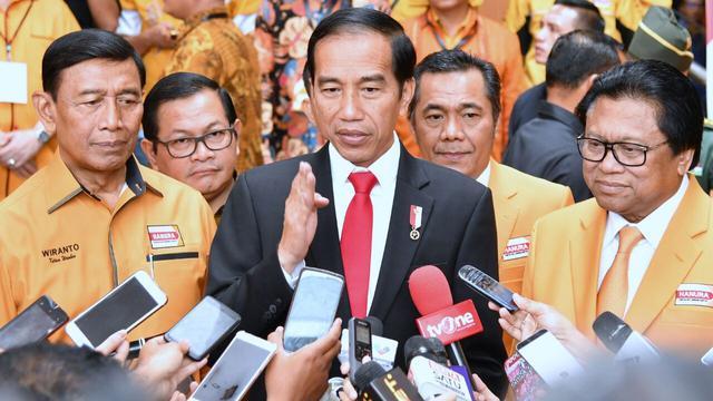 Jokowi di Rapimnas Partai Hanura di Bali