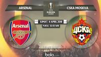 Liga Europa_Arsenal vs CSKA Moskva (Bola.com/Adreanus TItus)