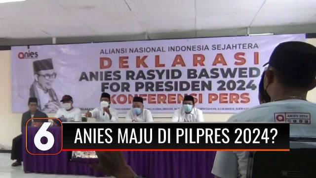 Relawan yang tergabung dalam Aliansi Nasional Indonesia Sejahtera (ANIS) mendeklarasikan dukungan untuk Anies Baswedan maju di Pemilihan Presiden 2024. Wagub DKI, Ahmad Riza Patria menyatakan belum ada obrolan terkait langkah politik Anies Baswedan.