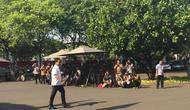 Moeldoko menyambangi Istana, Selasa (22/10/2019). (Merdeka.com/ Titin Supriatin)
