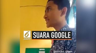 Seorang siswa SMA di Sulawesi Selatan, mampu menirukan suara robot Google Assistant. Meski ia lelaki, tapi suaranya mirip dengan robot tersebut.