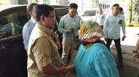 Capres Prabowo Subianto mengunjungi Ustaz Arifin Ilham (Liputan6.com/ Ady Anugrahadi)